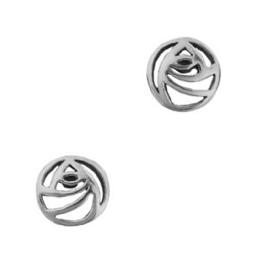 Mackintosh Glasgow Rose Silver Plated Stud Earrings 9173